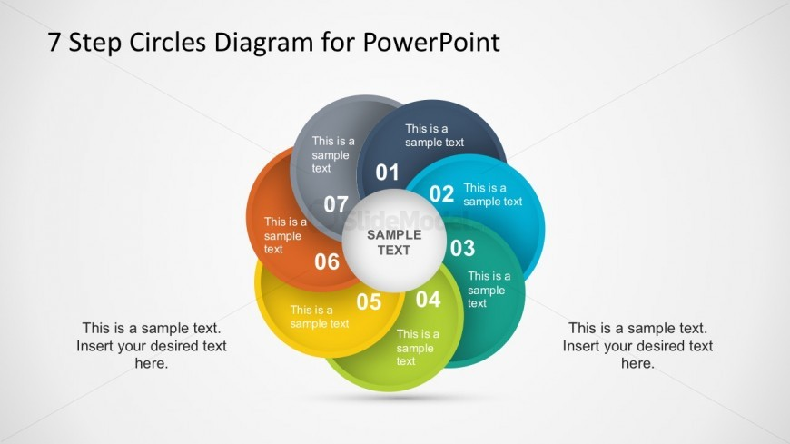 7 Business Steps In Circular Motion Powerpoint Template Slidemodel