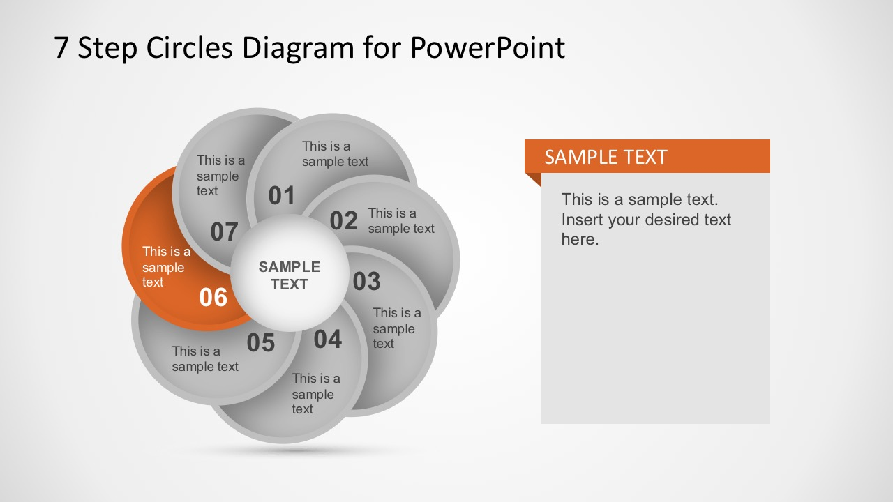 7 Stages Circular Chart Diagram Powerpoitn Templates