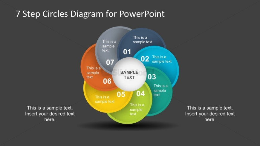 Circular Business PowerPoint Diagrams Dark Background