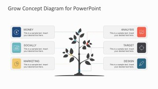 Growing Tree Business Concept Diagrams