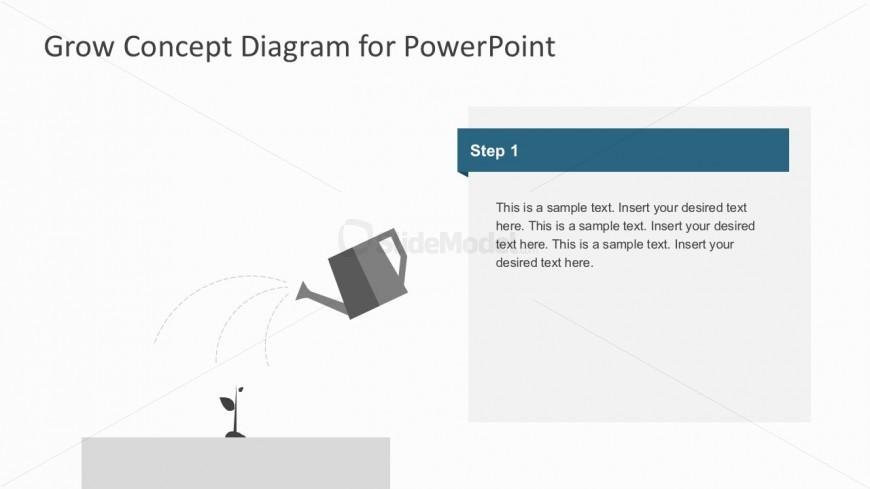 Editable Watering Plants PowerPoint Diagrams