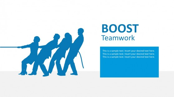 Team Pulling Rope PowerPoint Graphics