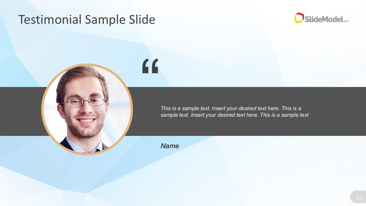 Testimonial Template   Testimonial Powerpoint Slide Template Slidemodel