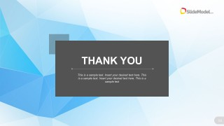 Blue Themed Thank you Page PowerPoint