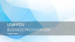 Low Poly Business Presentation Template