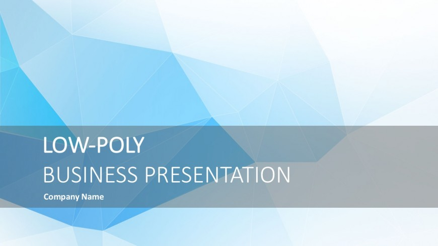 Low Poly Business Graphics Presentation