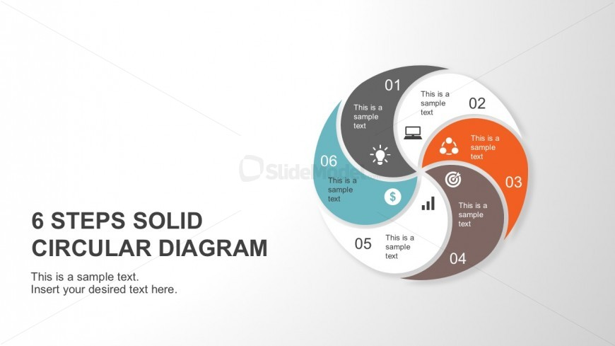 Flat Circular Diagram For PowerPoint Template