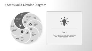 Flat Ligh Bulb Design For PowerPoint