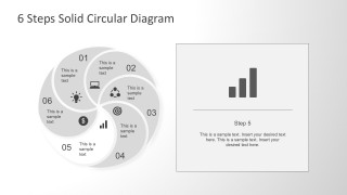 Circular PPT Template of Six Steps