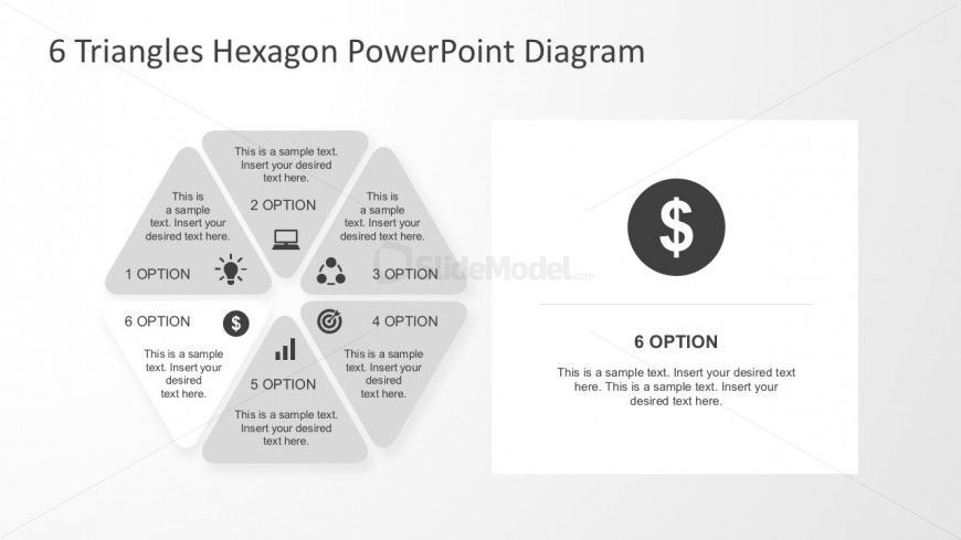 Business Steps Process Hexagonal Infographics
