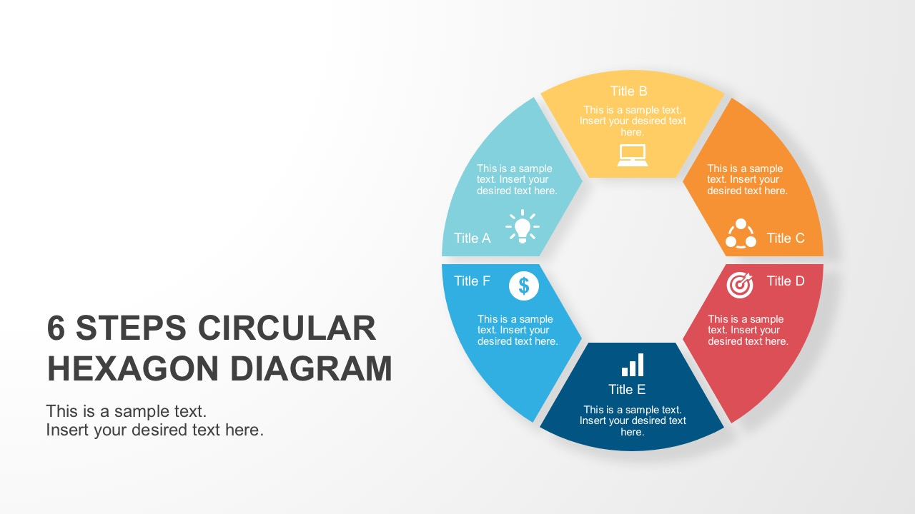 6 steps circular hexagon diagram process circular hexagon powerpoint diagram nvjuhfo Images