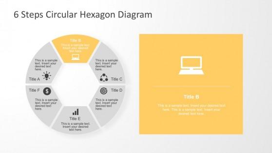 Hexagon Motion Diagram PowerPoint Slides