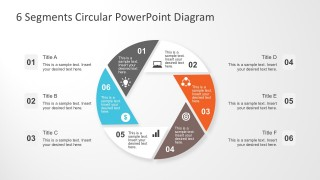 Circular Chart Template For PowerPoint