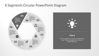6 Steps Round Charts With PowerPoint Icons