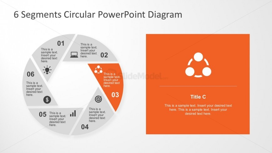 Creative Cycle Diagram For Microsoft PowerPoint