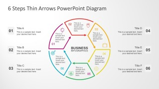 Thin Arrow Chart PowerPoint Templates