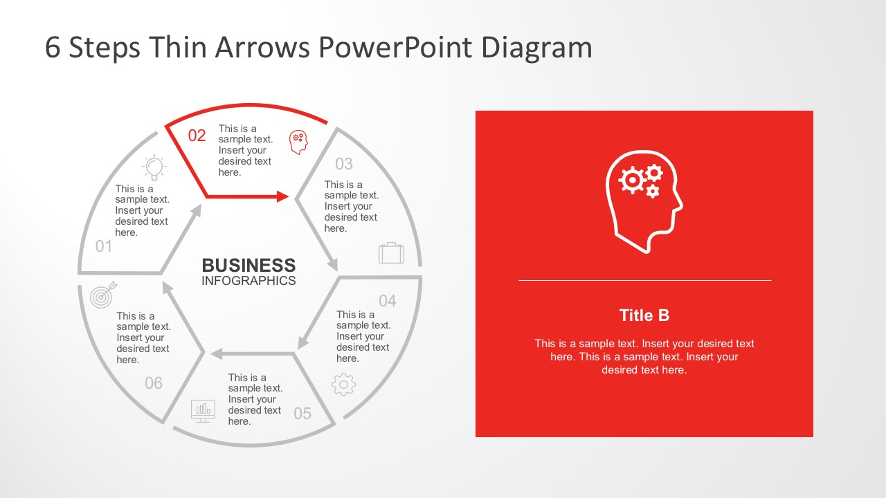 6 steps circular thin arrows powerpoint diagram hexagon powerpoint diagram templates ccuart Gallery