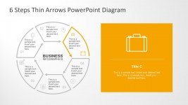 Flat Circular PowerPoint Diagram With 6 Steps