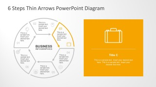Process Diagrams With Thin PowerPoint Icons