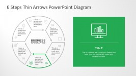 6 Steps Business Process Infographics Template