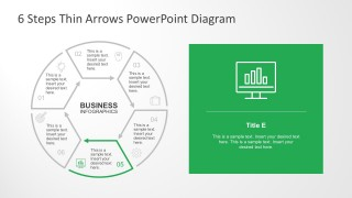 Flat Design PowerPoint Diagram In 6 Steps