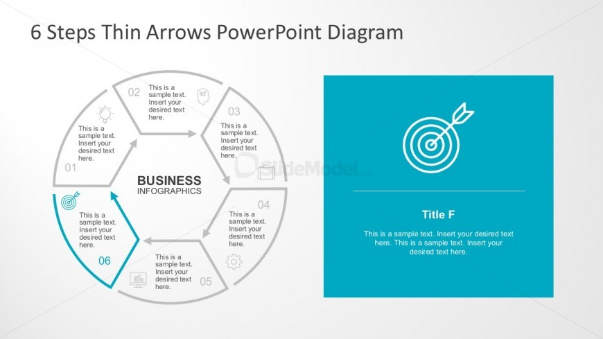 6 Steps Circle Diagram With PowerPoint Icons