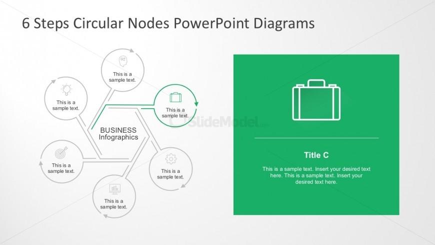 Editable Node Diagrams PowerPoint Slides