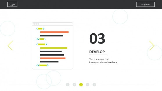 Flat Design Process Layout For PowerPoint