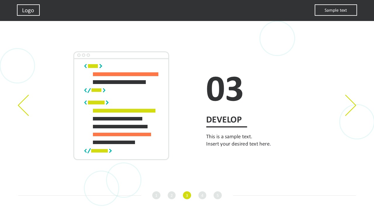 Bold Colors Web Dev PowerPoint Templates