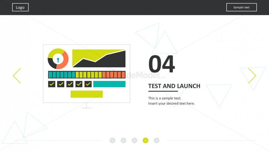 Web Startups Process Template For PowerPoint