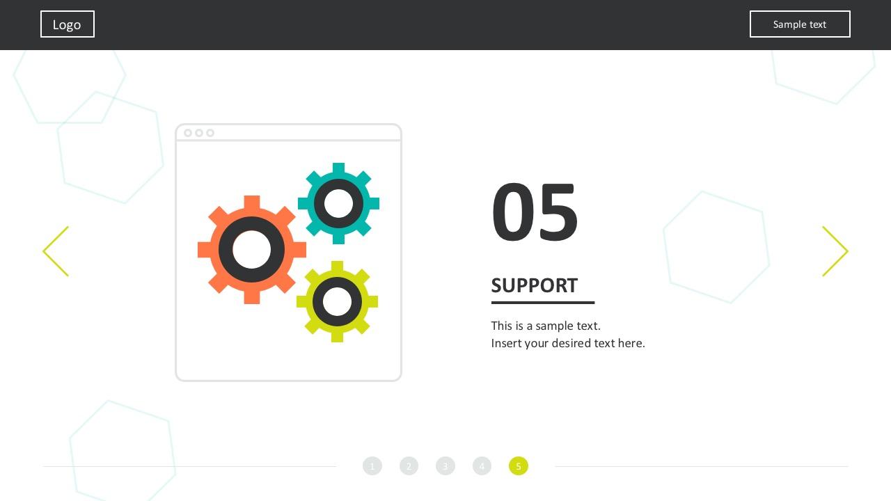 flat design icons website development template