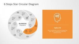 Star Circular Chart PowerPoint Template