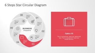 Business Chart 6 Steps Circle Diagram Template
