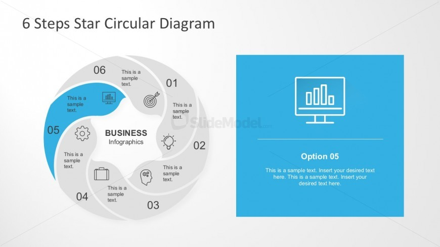 Circle infographic 6 steps round flow chart slidemodel circle infographic 6 steps round flow chart ccuart Images
