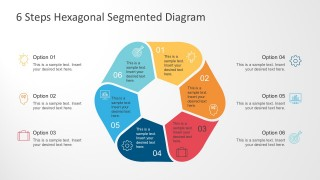 Colorful 6 Steps Segmented Diagram PowerPoint