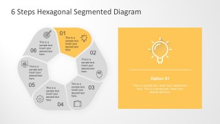 Six Segments Hexagonal PowerPoint Diagram