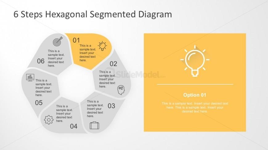 Six Segments Hexagonal PowerPoint Diagram