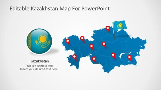 Geography powerpoint templates editable kazakhstan powerpoint map toneelgroepblik Choice Image