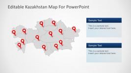 13 Capital City Of Kazakhstan Map PowerPoint Marker