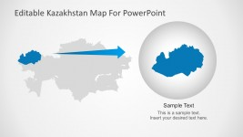 Kazakhstan Map City Highlight For Presentation