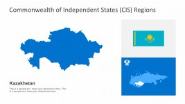 Map of Kazakhstan PowerPoint Presentation