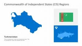 Turkmenistan CIS Constitutional Maps Editable Vectors