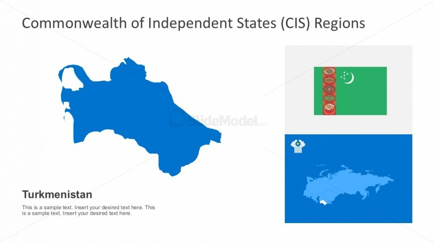 Accurate Turkmenistan Political Map With CIS Regional Maps