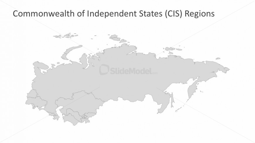 Maps of Commonwealth of Independent States Background Template