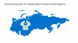 CIS Map With Logo PowerPoint Vectors