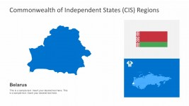 Belarus CIS Trade PowerPoint Map
