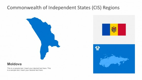The Republic of Moldova CIS Map PowerPoint