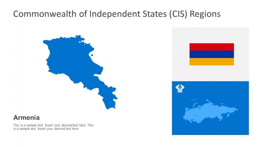CIS Armenia Regional Map For PowerPoint