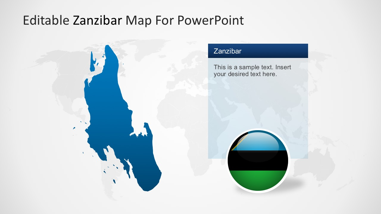 Map of zanzibar powerpoint template zanzibar political map with location markers zanzibar national regional capital markers gumiabroncs Choice Image