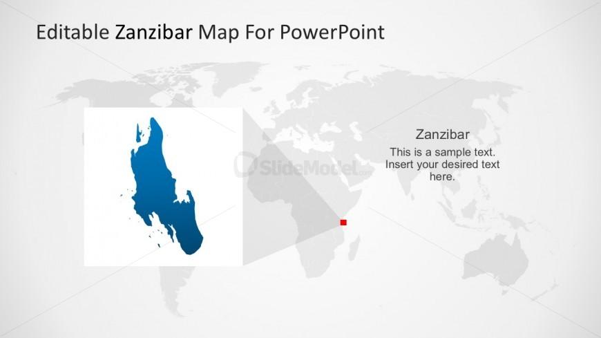 Map of Zanzibar PowerPoint Template